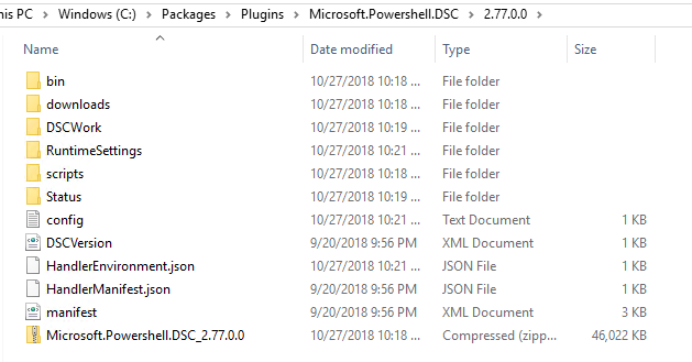 azure-dsc-package-folder